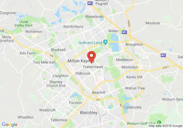 Google map image of Milton Keynes, Buckinghamshire, MK6 2BJ